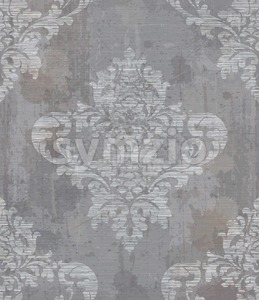 Grunge Damask pattern ornament decor Vector. Baroque fabric texture illustration design Stock Vector