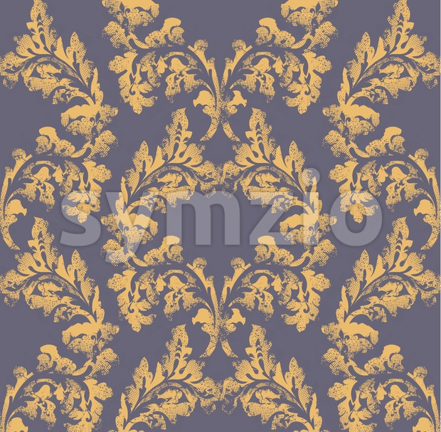 Damask pattern ornament decor Vector. Baroque fabric texture illustration design Stock Vector