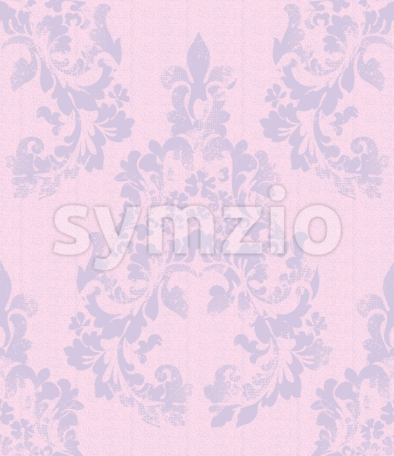 Damask pattern Vector illustration handmade ornament decor. Baroque background texture