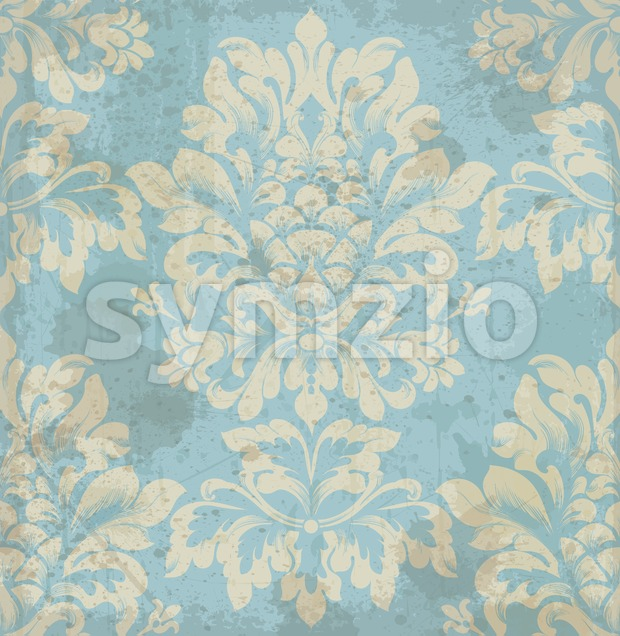 Vector damask pattern element. Classical luxury old fashioned ornament, royal victorian royal texture for wallpapers, textile, wrapping. Exquisite floral baroque ...