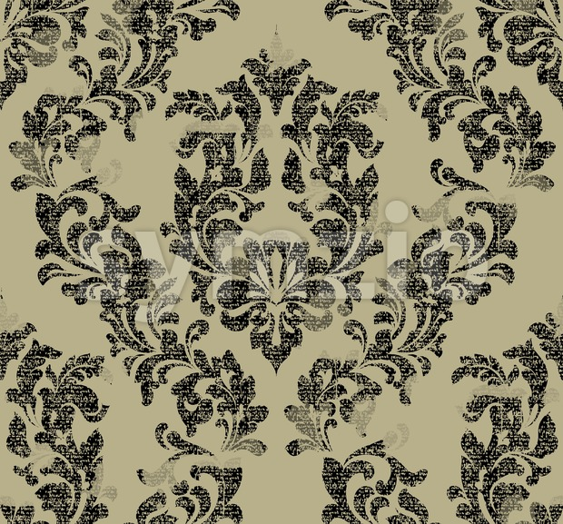 Damask pattern Vector illustration handmade ornament decor. Baroque background texture Stock Vector