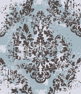 Vector damask pattern element. Classical luxury old fashioned ornament grunge background. Royal Victorian texture for wallpapers, textile, fabric, Stock Vector