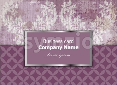 Business card with luxury ornament Vector. Baroque intricate design illustration. Place for text Stock Vector