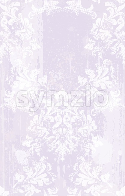 Vector damask pattern delicate decor. Classic luxury ornament on grunge background. Royal Victorian texture for wallpapers, textile, fabric, wrapping. Stock Vector