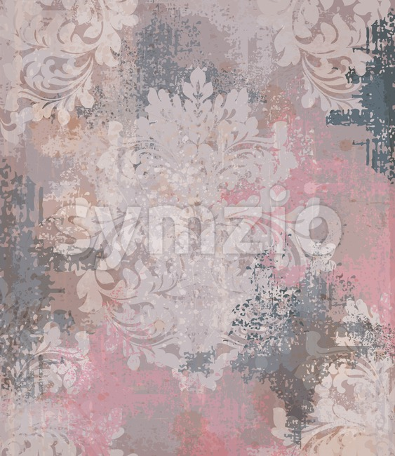Vector damask pattern element. Classical luxury old fashioned ornament grunge background. Royal Victorian texture for wallpapers, textile, fabric, wrapping. Exquisite ...