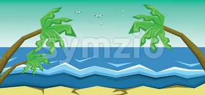 Vector abstract green landscape Stock Vector