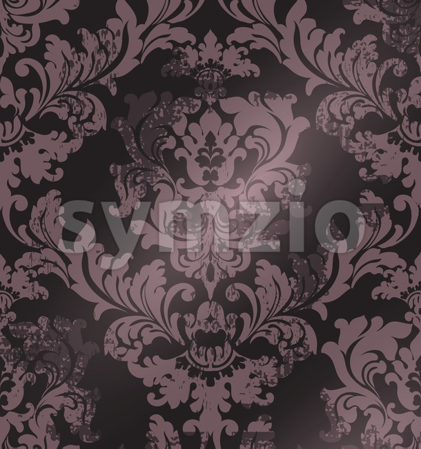 Luxury classic ornament on grunge background Vector. Baroque intricate design illustration