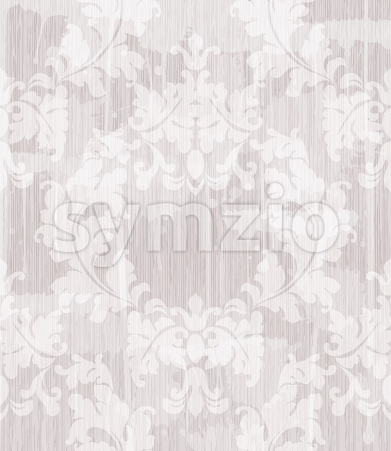 Vintage Baroque pattern background Vector. Ornamented texture luxury design. Royal textile decor light lavender color Stock Vector