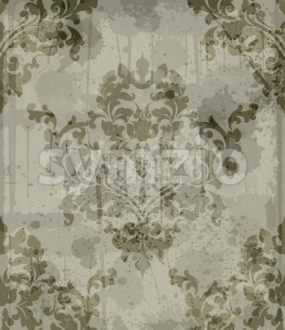Vintage Baroque pattern background Vector. Ornamented texture luxury design. Royal textile decor