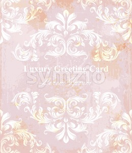 Vintage pattern vector. Classic ornament elegant structure retro theme decor Stock Vector