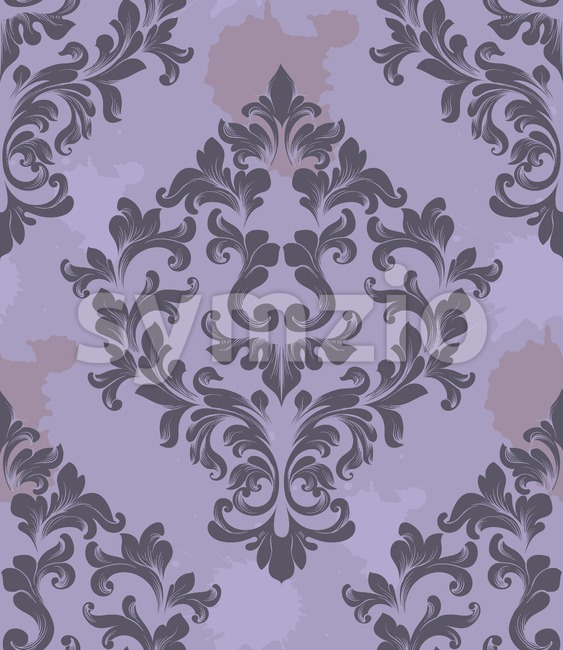Vintage Damask Seamless pattern Vector. Luxury ornament elegant structure retro theme decor Stock Vector