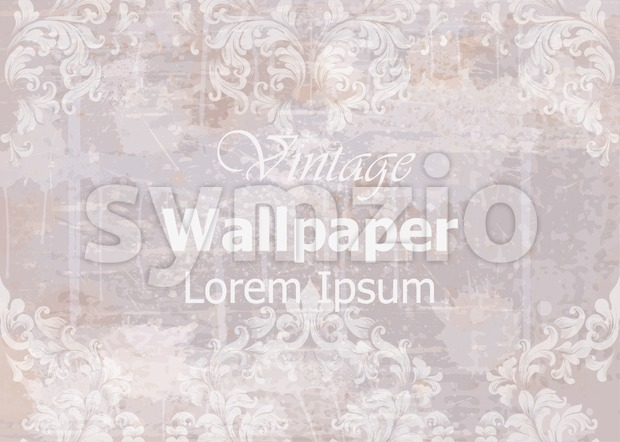 Vintage wallpaper Vector. Classic ornament elegant structure. Grunge background retro theme decor Stock Vector