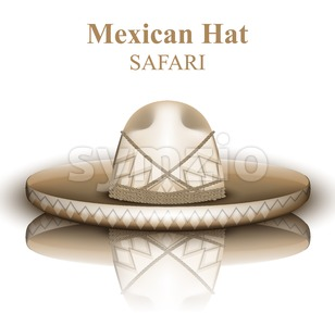 Mexican hat Vector realistic. Detailed 3d illustration Stock Vector