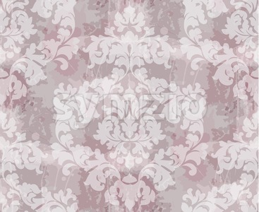 Vintage Baroque seamless texture pattern Vector. Wallpaper ornament decor. Textile, fabric, tiles. Pink powder color Stock Vector