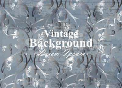 Vintage background baroque ornament Vector. Royal Luxury trendy wallpaper design. Texture, textile, decor, fabric, tile template Stock Vector