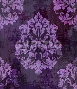 Vintage old paper texture Vector. Luxury baroque pattern wallpaper ornament decor. Textile, fabric, tiles. Violet color Stock Vector