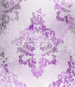 Vintage old paper texture Vector. Luxury baroque pattern wallpaper ornament decor. Textile, fabric, tiles. purple color Stock Vector