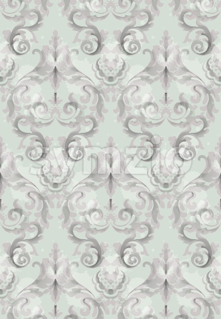 Vintage Baroque seamless texture pattern Vector. Wallpaper ornament decor. Textile, fabric, tiles trendy decor Stock Vector