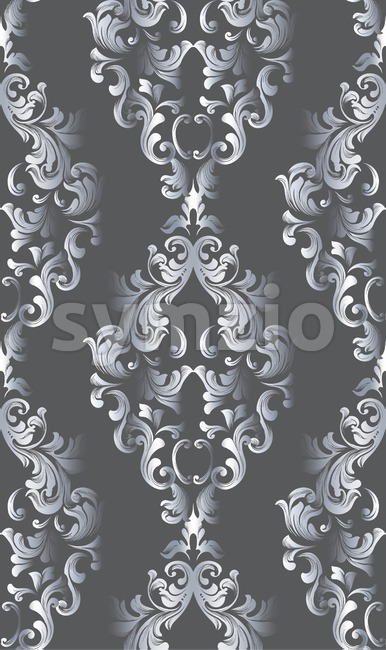 Vintage old paper texture Vector. Luxury baroque pattern wallpaper ornament decor. Textile, fabric, tiles. Dark colors Stock Vector