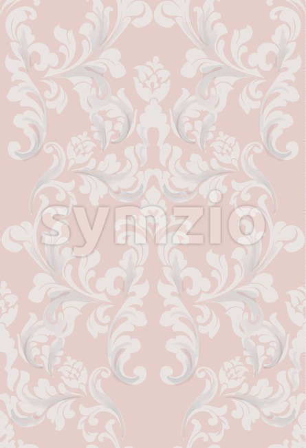 Vintage Baroque seamless texture pattern Vector. Wallpaper ornament decor. Textile, fabric, tiles trendy Stock Vector