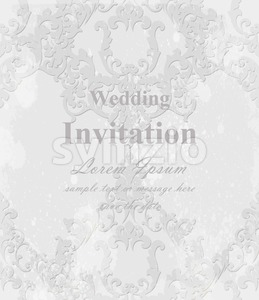 Vintage Baroque invitation card Vector. Royal texture. Victorian rich decor Stock Vector