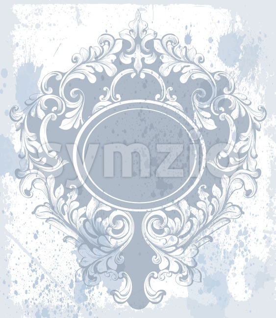 Vintage baroque ornament Vector. Classic old carved frame decors. Baroque sophisticated design Stock Vector