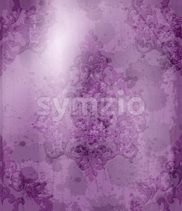 Vintage Baroque pattern Vector. Royal texture. Victorian fabric decors. Ultra violet color Stock Vector