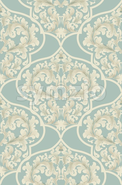 Baroque seamless pattern Vector. Royal texture. Victorian fabric decor Stock Vector