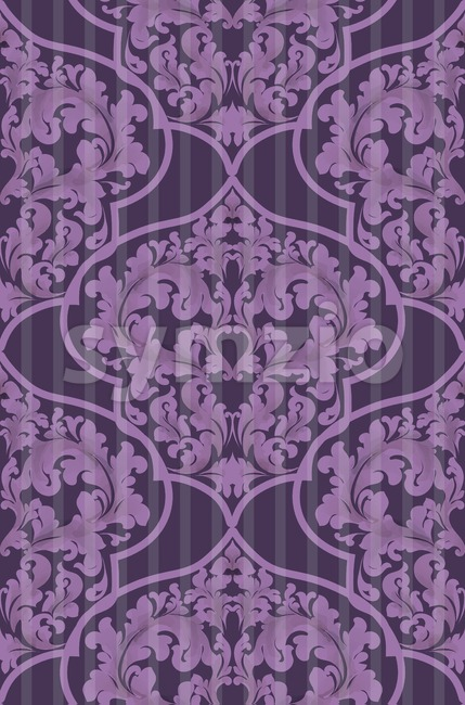 Baroque seamless pattern Vector. Trendy ultra violet color Stock Vector
