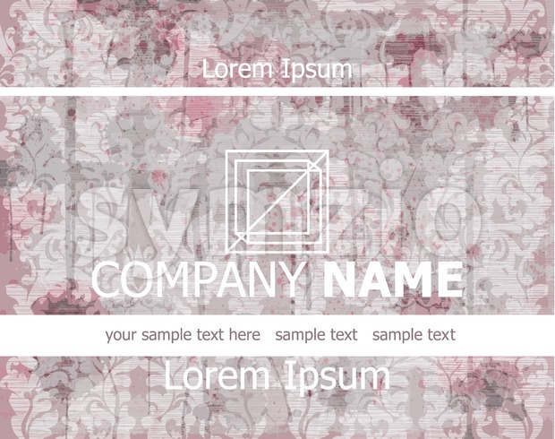 Vintage Business card old paper background Vector illustration