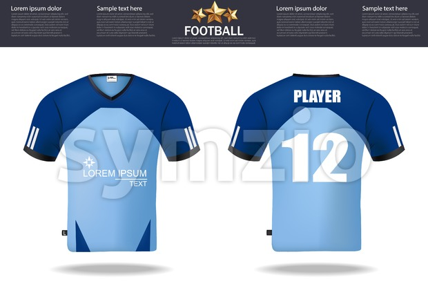 Football t-shirts Vector. Design template for soccer jersey, football kit and tank top for basketball jersey. Sport uniform in front ...