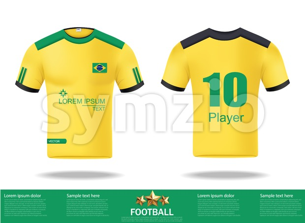 Football yellow t-shirts Vector. Design template for soccer jersey, football kit and tank top for basketball jersey. Sport uniform in ...