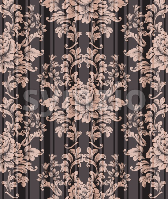 Vintage ornament pattern Vector. Baroque classic background. Royal victorian texture. Old painted style decor design Stock Vector