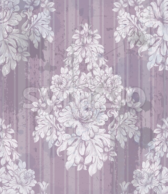 Vintage ornament pattern Vector. Baroque classic background. Royal victorian texture. Old painted style decor design