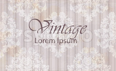 Vintage pattern baroque ornamented background. Old effect texture decor Stock Vector