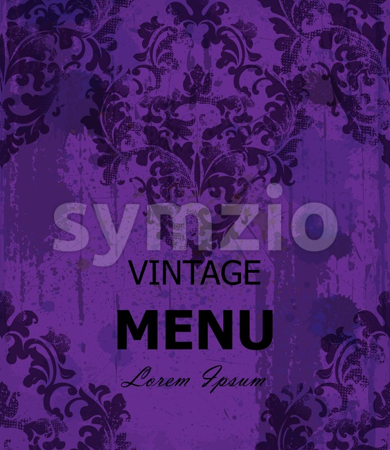 Vintage Baroque style background Vector. Luxury Delicate Classic ornament. Royal Victorian decor. Ultra violet color