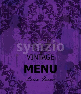 Vintage Baroque style background Vector. Luxury Delicate Classic ornament. Royal Victorian decor. Ultra violet color Stock Vector