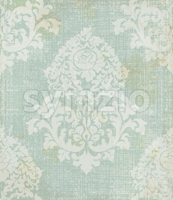 Elegant baroque pattern background Vector. Rich imperial decors. Royal victorian texture blue color Stock Vector