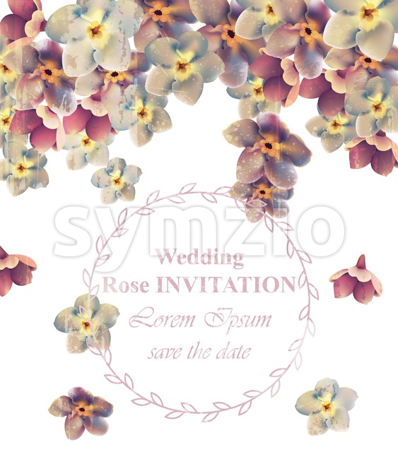 Vintage Wedding frame floral Vector. Beauty floral decoration banner Stock Vector