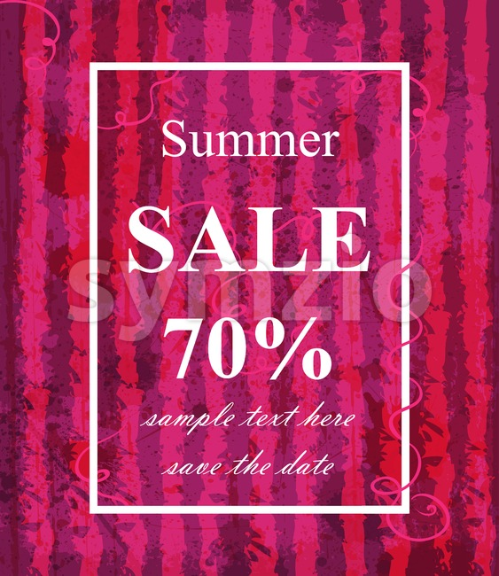 Summer sale template Vector. Watermelon texture background. Fucsia trendy color Stock Vector