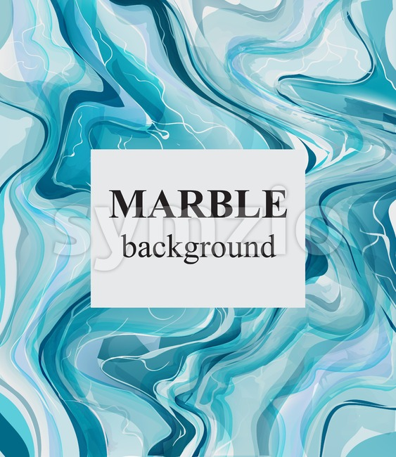 Blue turquoise marble background Vector. Luxury stone pattern texture