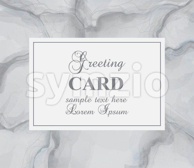 Greeting card with gray marble background Vector. Luxury stone pattern texture
