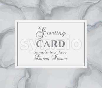 Greeting card with gray marble background Vector. Luxury stone pattern texture Stock Vector