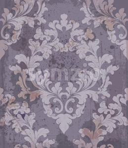 Baroque purple background Vector illustration decor. Royal texture victorian ornament Stock Vector
