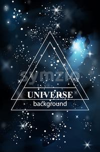 Lights sparkle dark background Vector. universe template Stock Vector