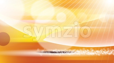 Digital vector orange and red abstract Stock Vector