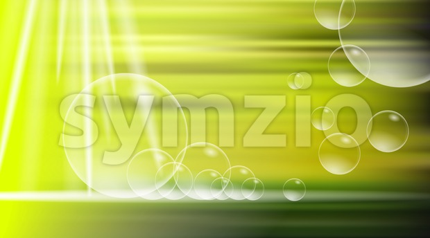 Digital vector yellow and green abstract Stock Vector