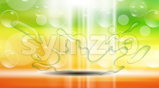 Digital vector yellow, red and green abstract Stock Vector